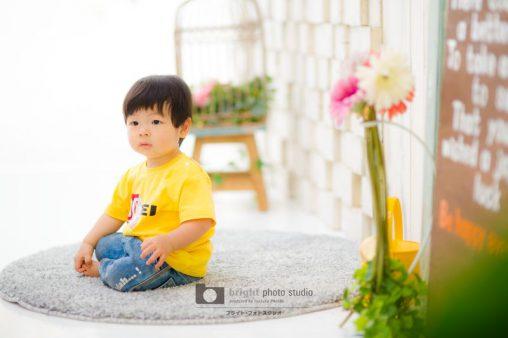 西宮市甲子園写真スタジオカジュアルフォト1歳記念お誕生日