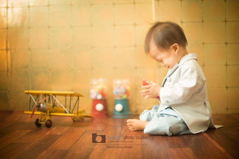西宮市甲子園写真館フォトスタジオお誕生日記念赤ちゃん
