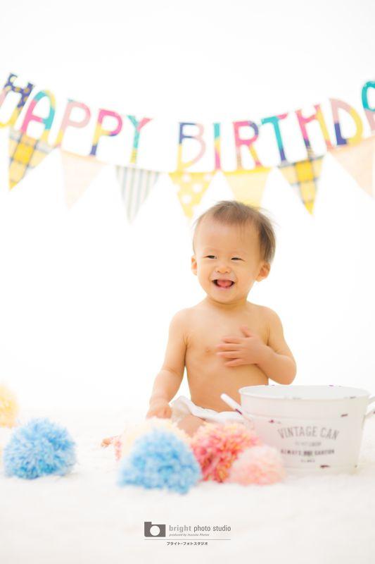 西宮市甲子園写真館フォトスタジオ赤ちゃんお誕生日記念