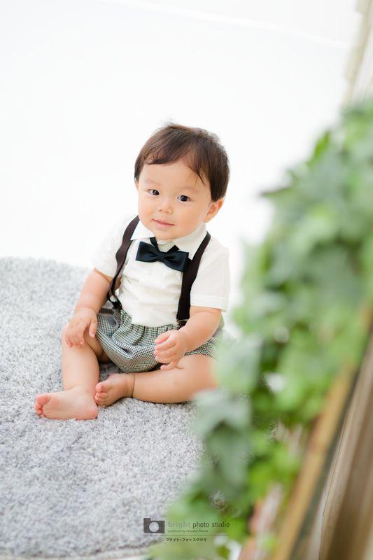 西宮市甲子園写真館フォトスタジオお誕生日記念1歳