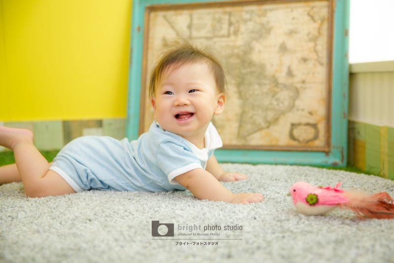 西宮市甲子園写真館フォトスタジオ赤ちゃんBabyハーフバースデーご記念写真