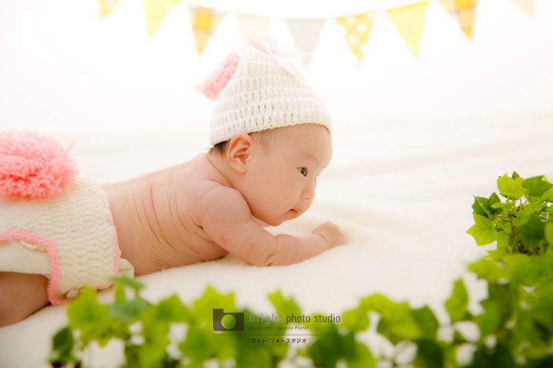西宮市甲子園写真館フォトスタジオニューボーン赤ちゃんモデル撮影