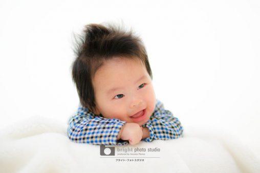 西宮市甲子園写真館フォトスタジオお宮参り赤ちゃんnewborn