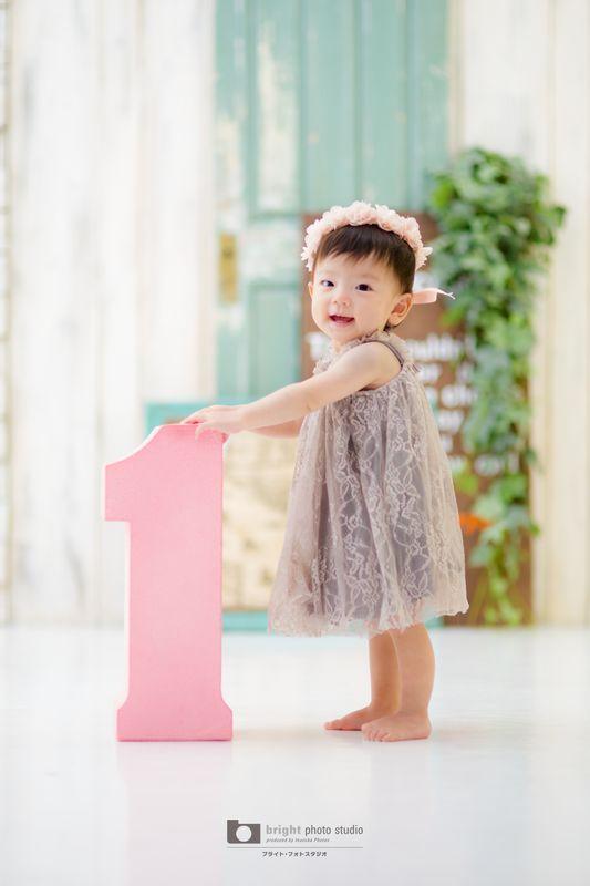 西宮市甲子園写真館フォトスタジオ1歳お誕生日記念