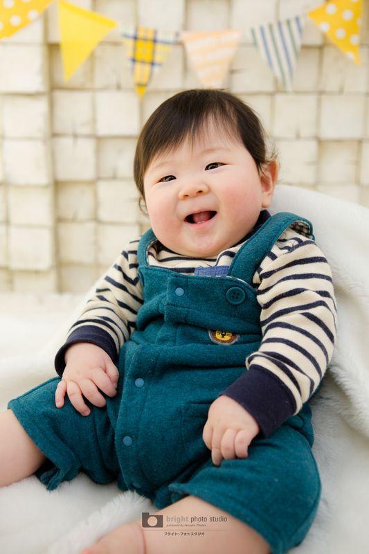 西宮市甲子園写真館フォトスタジオ赤ちゃん6ヶ月記念ハーフバースデー