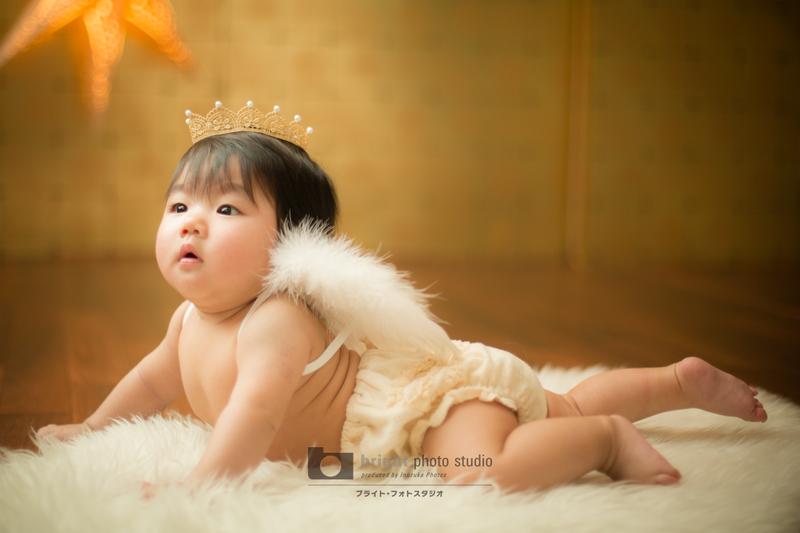 西宮市甲子園写真館フォトスタジオ赤ちゃんモデル撮影