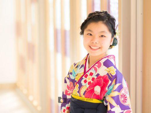 西宮市甲子園写真館フォトスタジオ卒業式卒袴